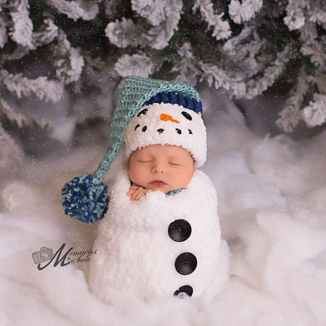 Crochet Newborn Snowman Hat And Cocoon Pattern Amk Crochet