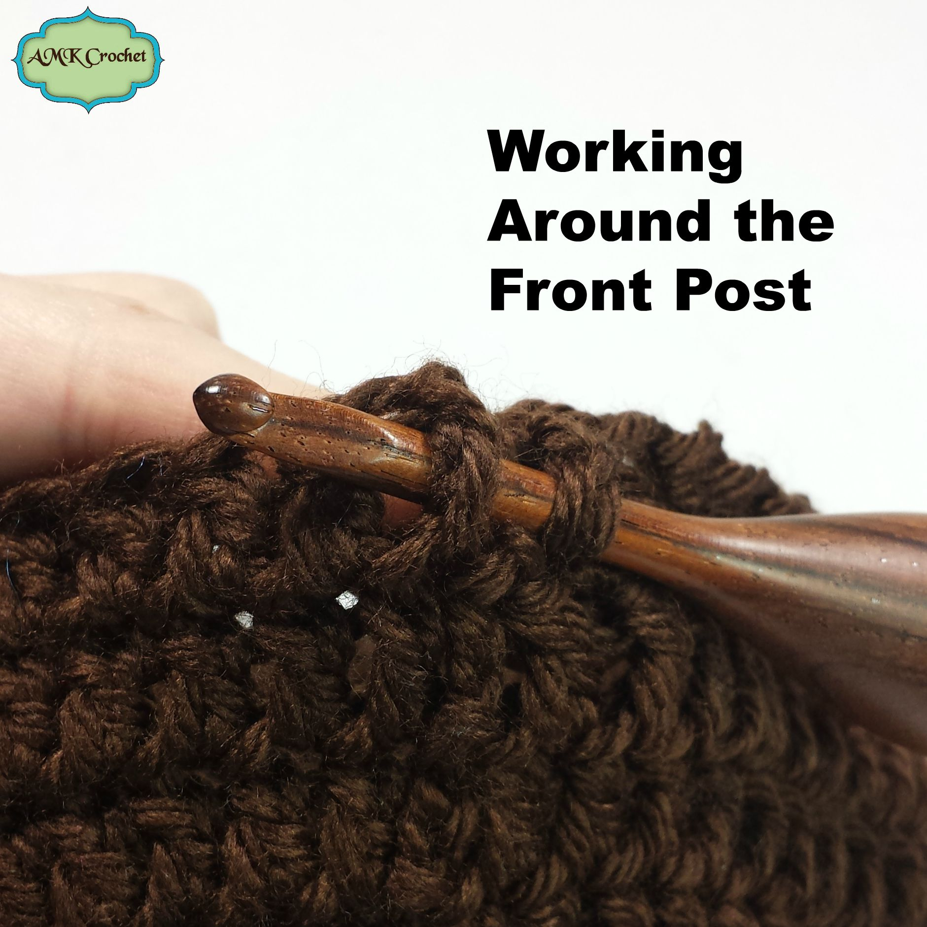 How to Double Crochet Around the Front and Back Post by AMKCrochet.com