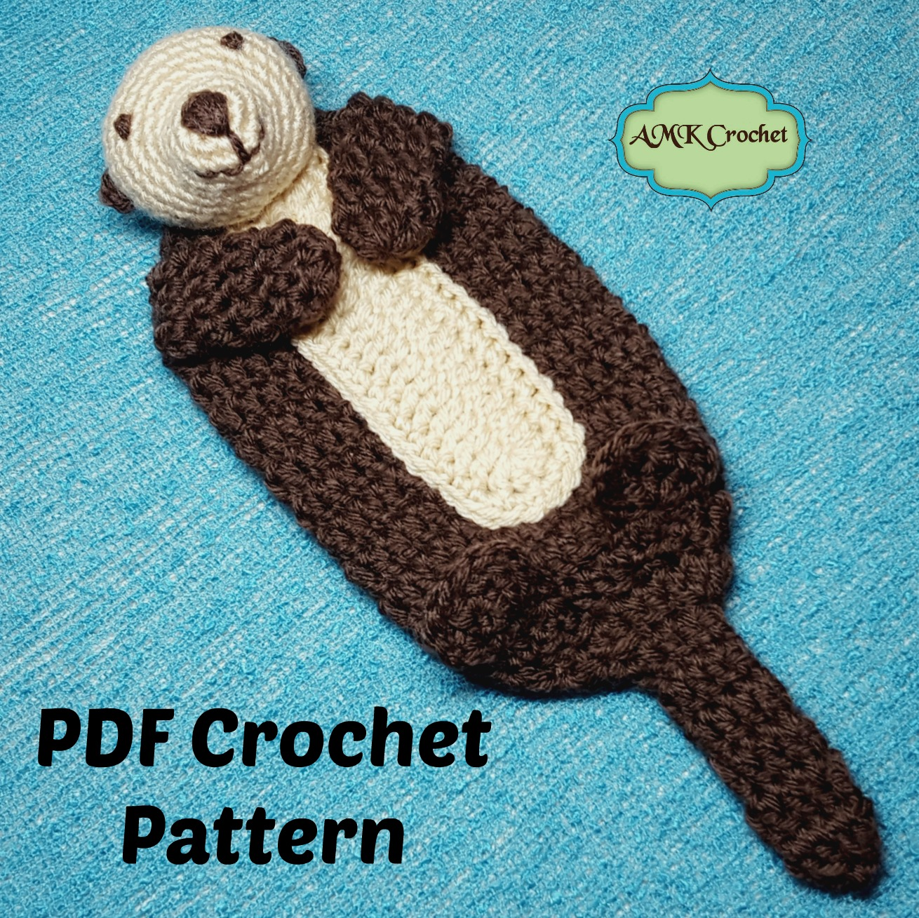 Crochet Baby Sea Otter Lovey Blanket Pattern   AMK Crochet