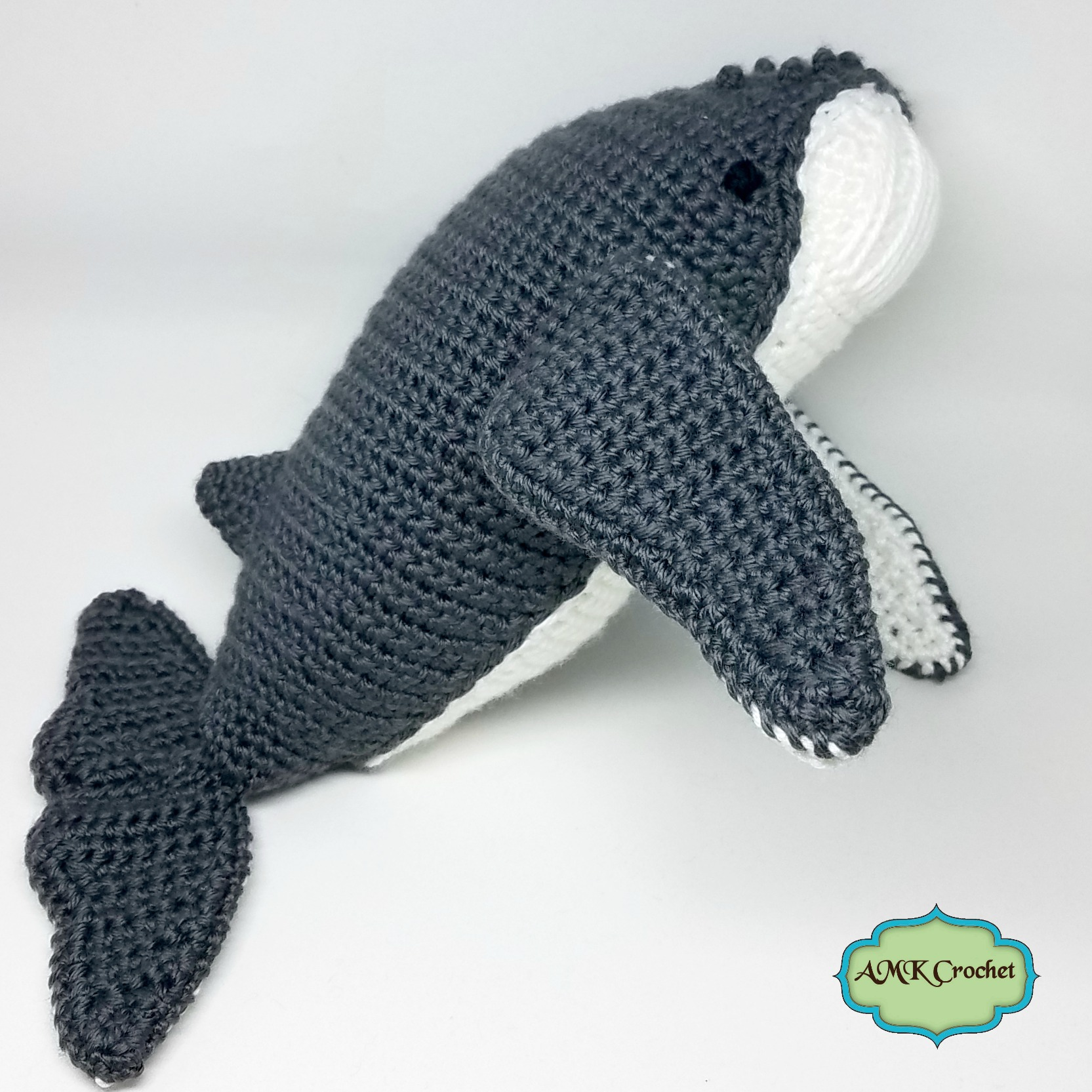 Crochet Humpback Whale Plush Toy Pattern, Humpback Amigurumi Stuffed ...
